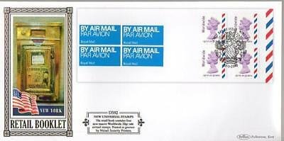 Benham D592 Worldwide Airmail Booklet Pane Fdc 30-3-10 Windsor Arms Shs F9