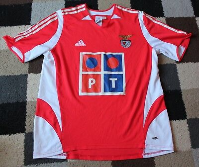 BENFICA FC 'Adidas' Home Shirt 2005-2006 (Adult Large) Vintage PORTUGAL