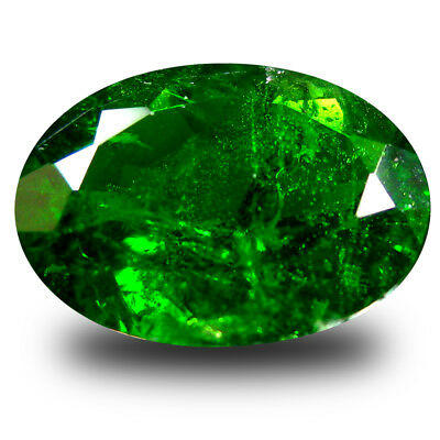 3.91 ct  Marvelous Oval Shape (12 x 9 mm) Green Chrome Diopside Natural Gemstone