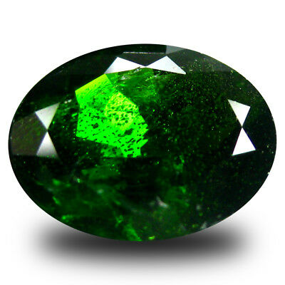 3.40 ct  Fabulous Oval Shape (11 x 9 mm) Green Chrome Diopside Natural Gemstone