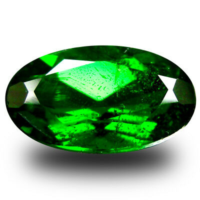 1.90 ct  Mesmerizing Oval Shape (10 x 6 mm) Green Chrome Diopside Gemstone