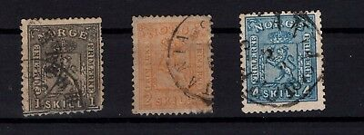 P44032 / Norvege / Norway / Sg # 22 / 23 - 27 Obl / Used 137 €