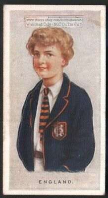 England Young Child With Pop-Up Image 1920s Ad Trade Card Britain Boy