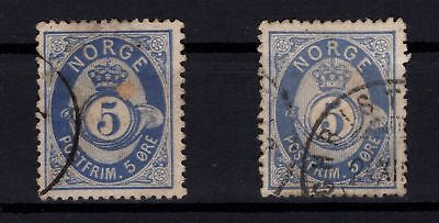 P44043 / Norvege / Norway / Sg # 52 X 2 Obl / Used 106 €