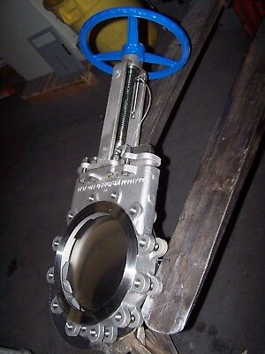 "New Velan 10"" Stainless Steel Knife Gate Valve L16-0310C-13St  Cf8M 150 Cwp"