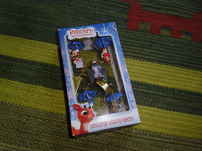 Rudolph The Red Nosed Reindeer Island Misfit Toys Holiday Mini Ornaments set NIB