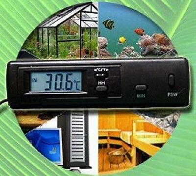 Digital Thermometer Pc Terrarium Aquarium Lüftung T01