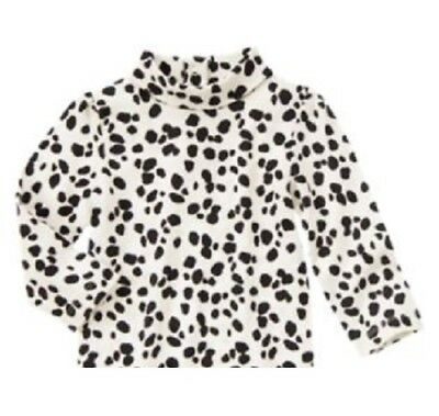 Gymboree Fancy Dalmation Top 3T 4T 5T New Black White Animal Print Puppy Shirt