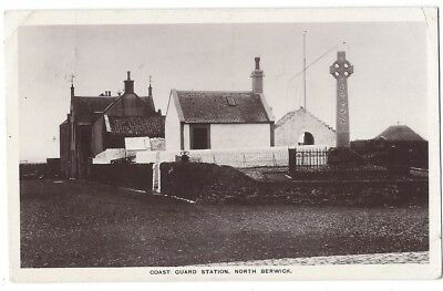 NORTH BERWICK Coast Guard Station, RP Postcard Postally Used 1911
