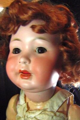 German Bisque Doll Pm 914 Toy Teeth Tongue Damage Old Dollmaker Craft Restore
