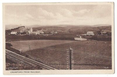 CRAWFORD South Lanarkshire, from the Railway, Old Postcard Unposted 1934