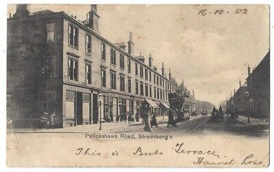 STRATHBUNGO Pollokshaws Road, Glasgow, Old Postcard Postally Used 1903