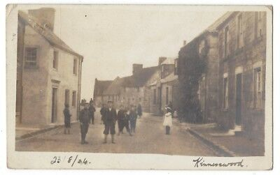 KINNESSWOOD View in the Village, RP Postcard Kinross Postmark Posted 1904