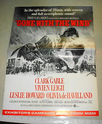 1967 GONE WITH THE WIND Exhibitor's Campaign Pressbook MGM Wide Screen Release