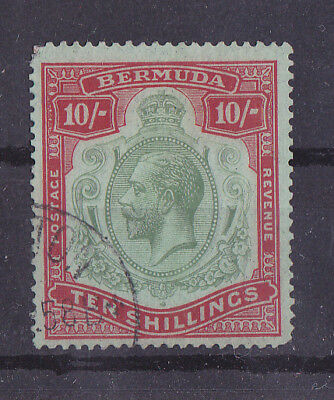 BERMUDA 1924-1932 Used 10/- Green Red & Pale Emerald SG #92 CV £250
