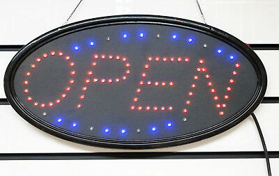 Best Quality Oval Flashing Colour LED OPEN Shop Sign Display Window Light (LED2)