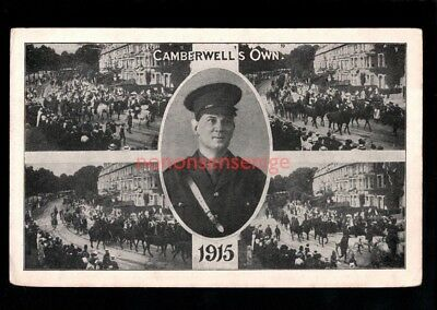 London Camberwell's Own Military Regiments Postcard 1915 - 11