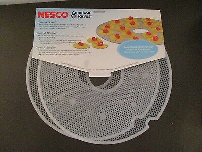 Nesco American Harvest Clean-A-Screen Tray Dehydrators 2 Mesh Sheets Model LM-2