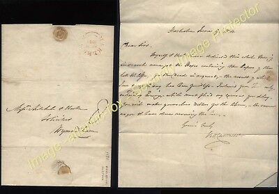 1834 HARLESTON Norfolk post marked letter to Wymondham