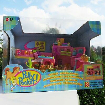 Mini Polly Pocket Petland House 100%complete 18 Fig. NEW NEU Bauernhof Hacienda