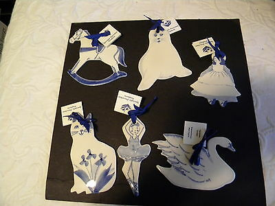 Lot Of (6) Tree Ornaments By  Specialty Porcelain Products/