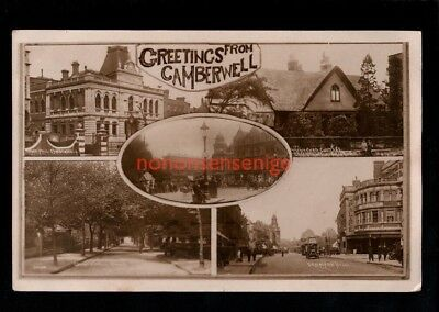 London Camberwell Greetings Multiview Real Photo Postcard E20C - 35
