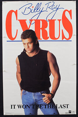 Rare Vintage 1993 Billy Ray Cyrus Music Store Promotional Mullet Poster - B46