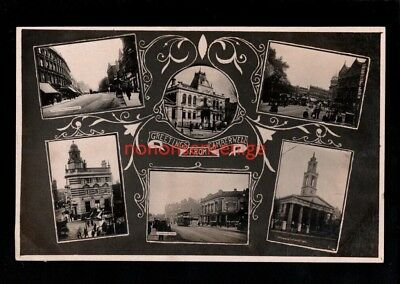 London Camberwell Greetings Multiview Real Photo Postcard 1912 - 36