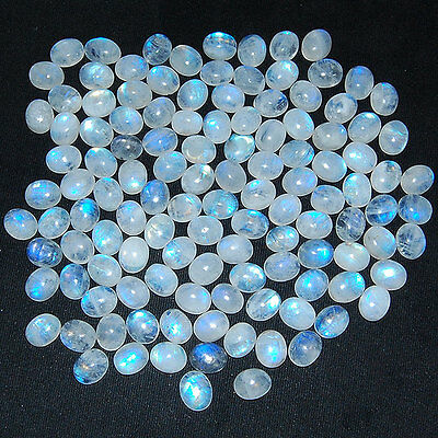 120 Pcs ~11mm/9mm~ Exclusive Quality White Rainbow Natural Moonstone Lot