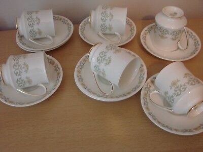 6 Paragon china fiona cups and  saucers