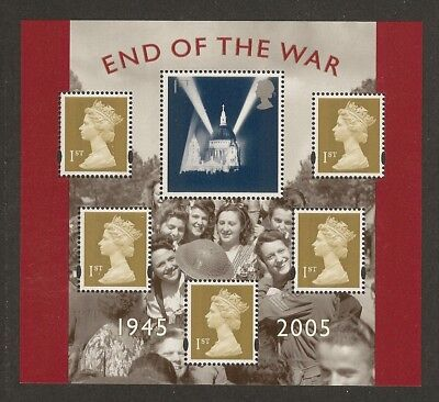 GB Stamps: 60th Anniv. of End of WW2 Miniature Sheet MS2547.