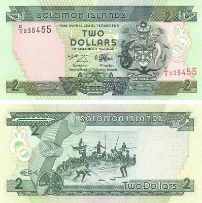 SOLOMON ISLANDS - P.18, $2 Dollars 1997. UNC