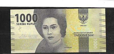 INDONESIA 2016 1000 RUPIAH NEW mint crisp BANKNOTE PAPER MONEY CURRENCY NOTE
