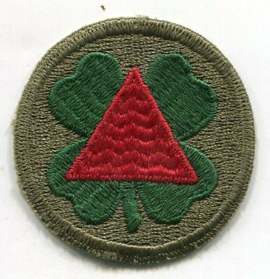 Authentic US Army Patch WWII, 13th XIII Corps--Ribbed Embroidery