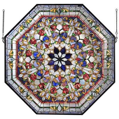 Front Hall Floral Stained Glass Window