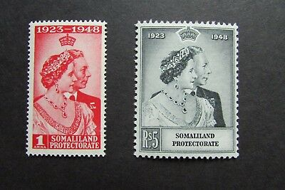 XL2962A: Complete Set 1948 Mint Silver Wedding Stamps – Somaliland Protectorate