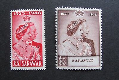 XL2968A: Complete Set 1948 Mint Silver Wedding Stamps – Sarawak