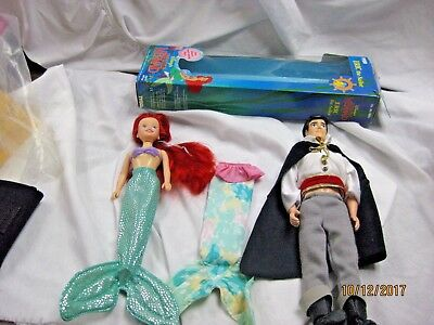 Vintage Tyco Disney's The Little Mermaid  Eric The Sailor Doll and Ariel doll
