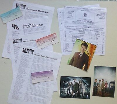 Dr Who - various original BBC Press items including rare filming schedule