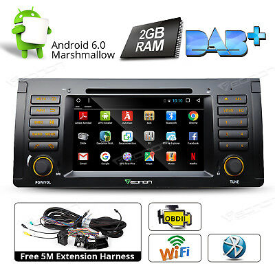 "7""Android 6.0 2GB Car Stereo Radio DVD GPS Navigation for BMW E53 X5 Bluetooth A"