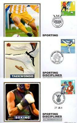 ALL 10 BENHAM BS1004-13 SPORTING DISCIPLINES FDC'S 27-7-10 each with SHS F16