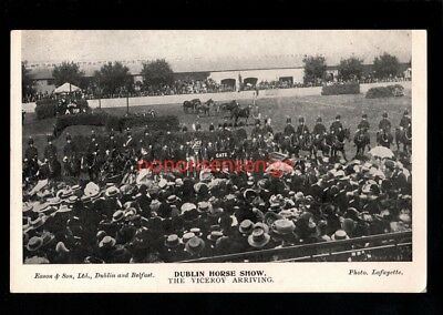 IRELAND Co Dublin DUBLIN HORSE SHOW THE VICEROY ARRIVING Eason POSTCARD E20C -21