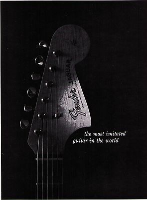 """Vintage 1960's  Fender """"Most Imitated Guitar In The World"""" Print Advertisement"""