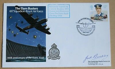 617 Squadron Dambusters Squadron 1987 Cover Signed  By Gunner Jack Buckley