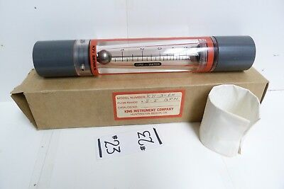 Nos King Instrument Company Flowmeter: 0.5-5 Gpm K71-3-Eh -#23