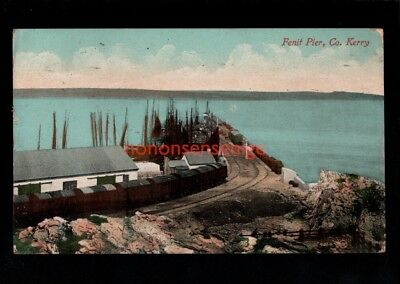 IRELAND Co Kerry FENIT PIER GOODS RAILWAY HALT POSTCARD 1912 - 33
