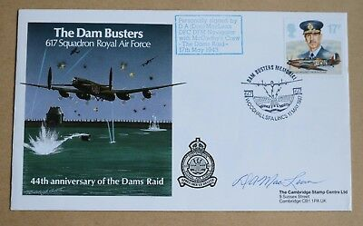 617 Squadron Dambusters Squadron 1987 Cover Signed By Navigator Bob Maclean