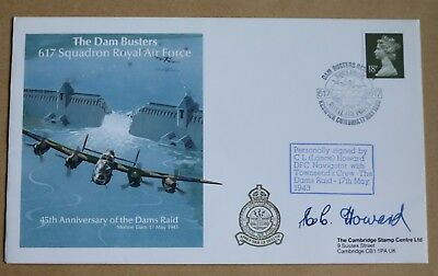 617 Squadron Dambusters Squadron 1987 Cover Signed By Navigator Lance Howard