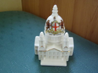 City Of London Crest - Model Of St Pauls Cathedral - Botolph Crested China
