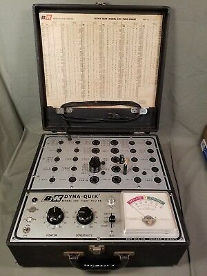 B&k Dyna-Quik 500 Dynamic Mutual Conductance Tube Tester & 1B3Gt Calibrated